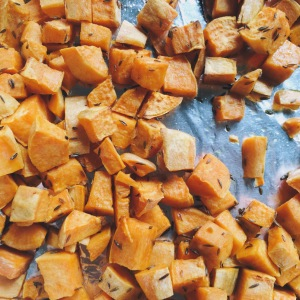 Cumin Spiced Sweet Potatoes