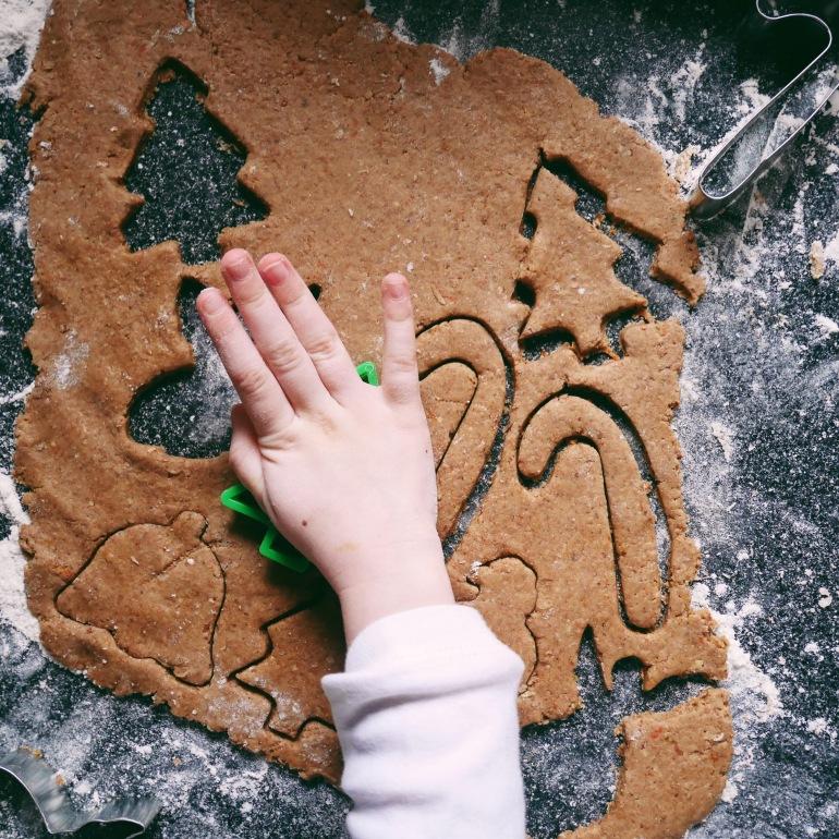 Clementine, Honey & Pecan Gingerbread Biscuits