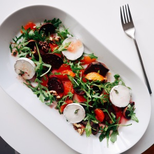 Beetroot, Blood Orange and Goats Cheese Salad